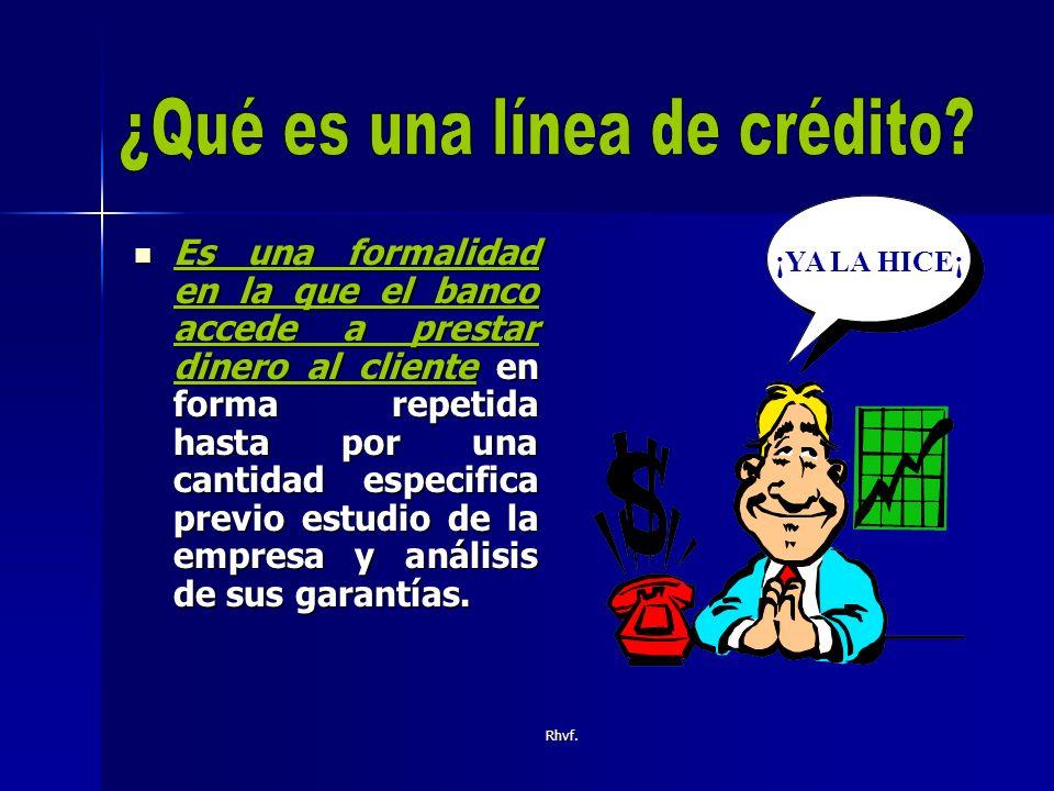 ¿Qué es una línea de crédito