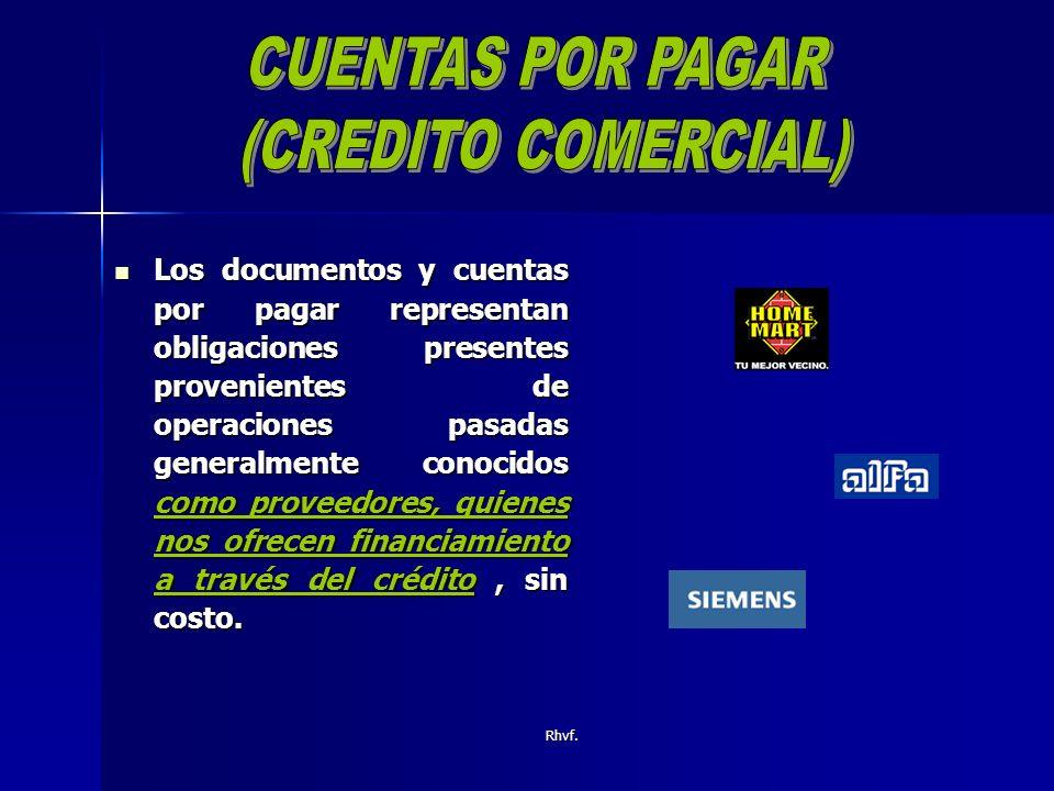 CUENTAS POR PAGAR (CREDITO COMERCIAL)