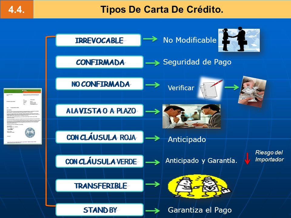 Tipos De Carta De Crédito.
