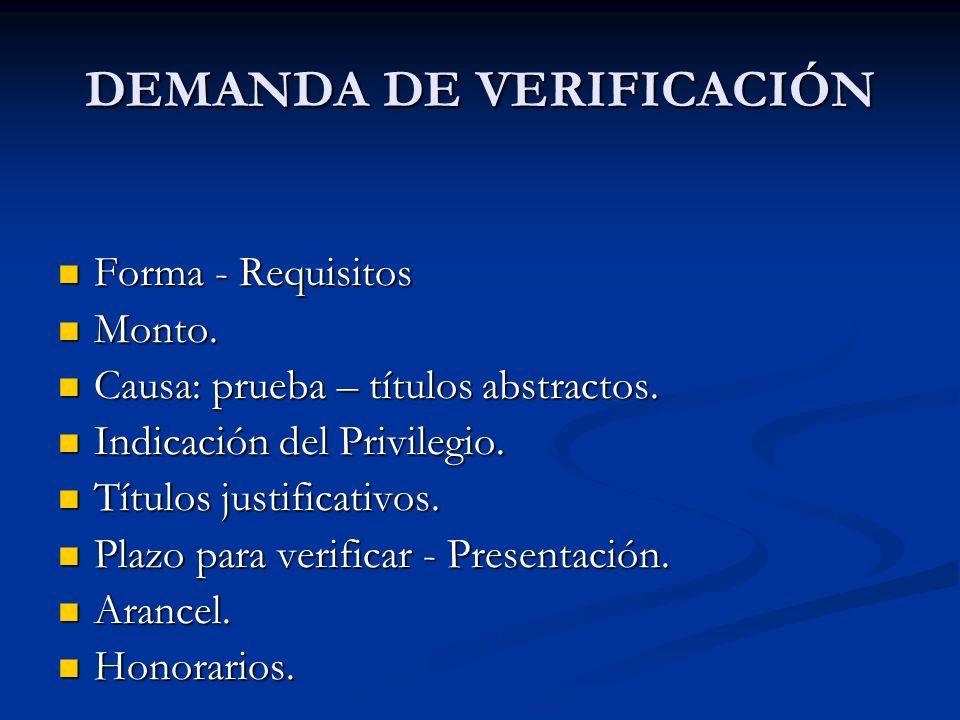 DEMANDA DE VERIFICACIÓN