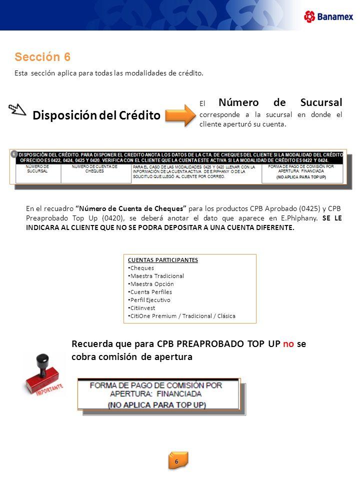 Disposición del Crédito