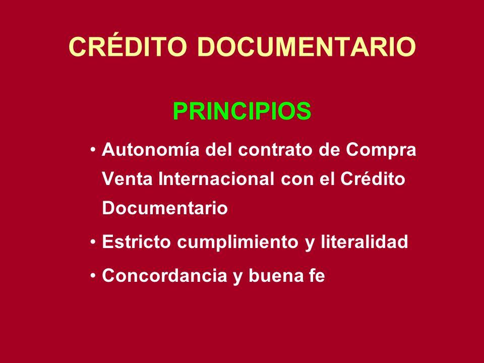 CRÉDITO DOCUMENTARIO PRINCIPIOS
