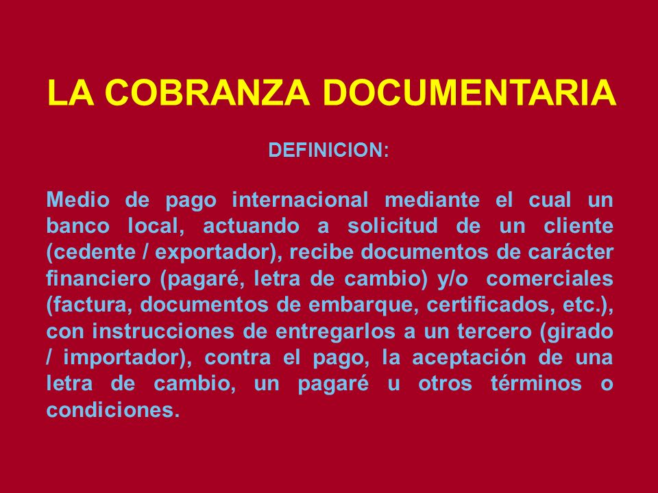 LA COBRANZA DOCUMENTARIA