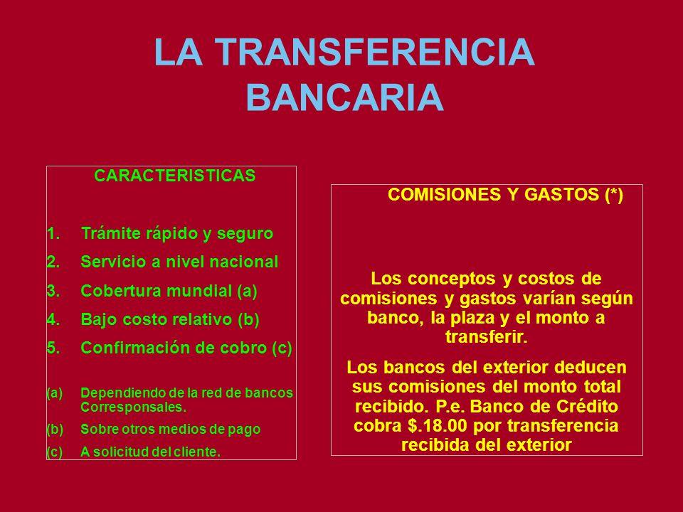 LA TRANSFERENCIA BANCARIA