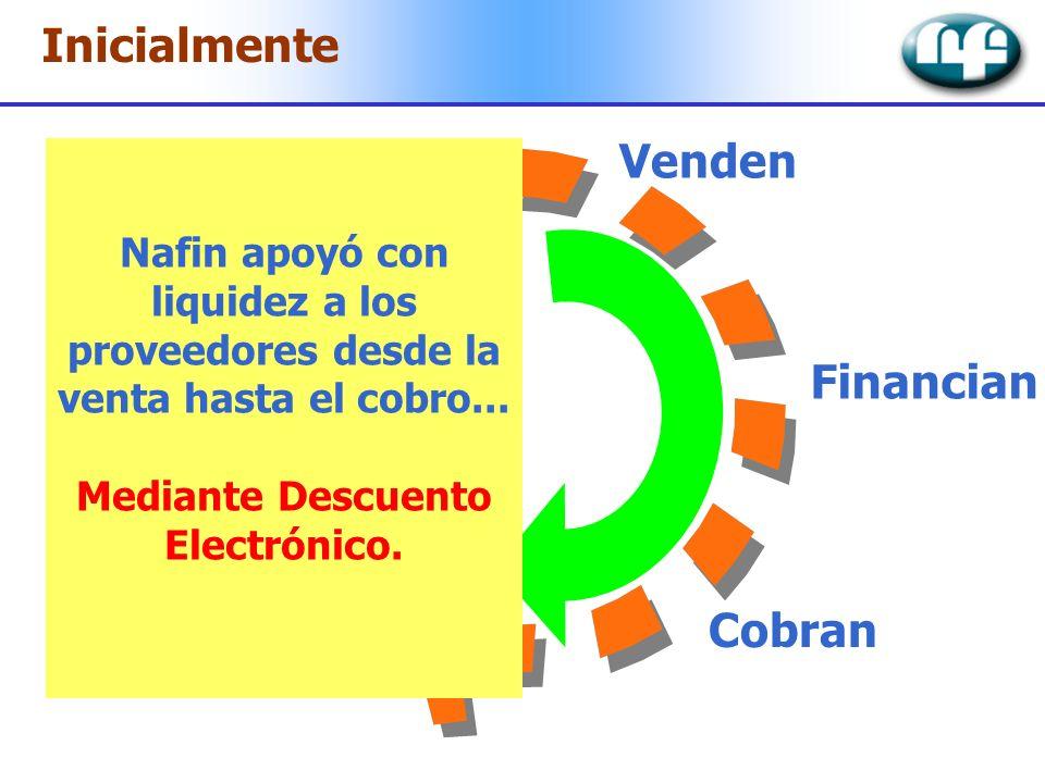 Mediante Descuento Electrónico.