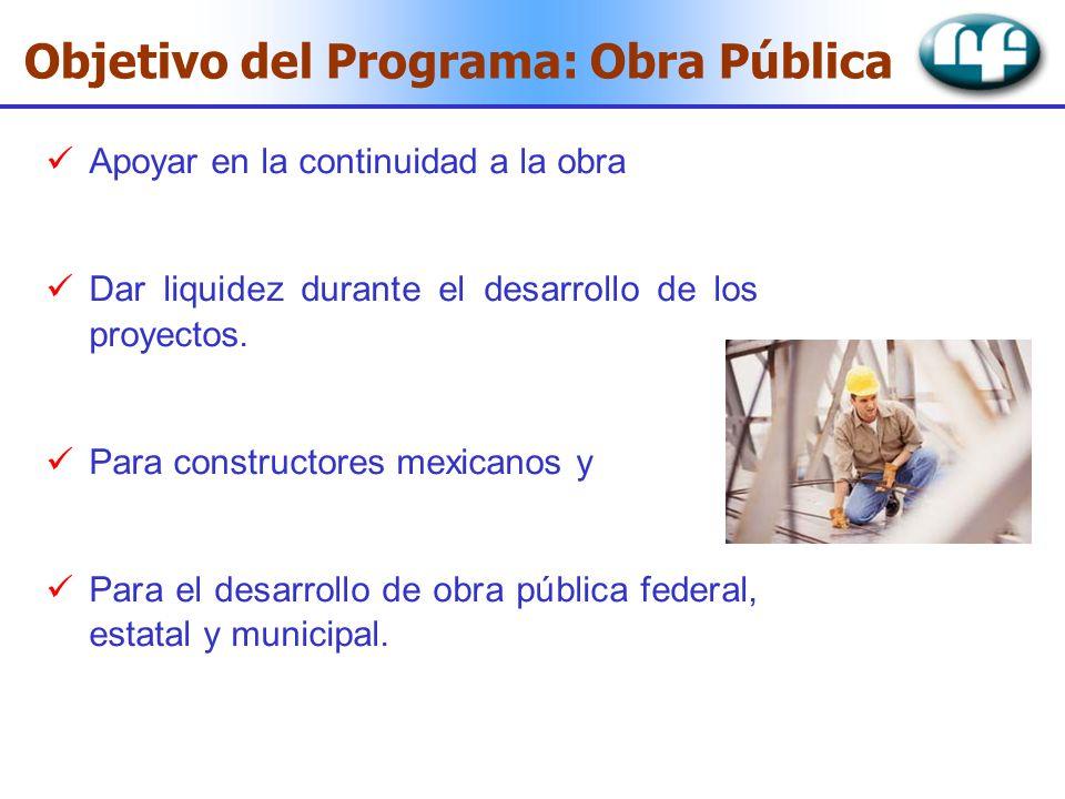 Objetivo del Programa: Obra Pública