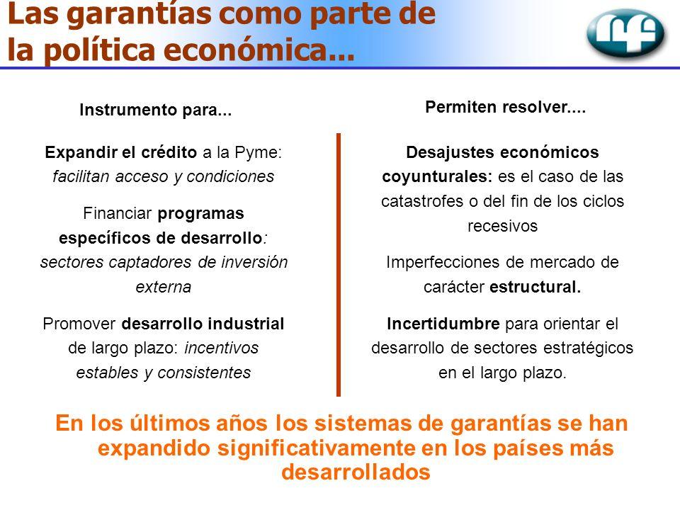 Las garantías como parte de la política económica...