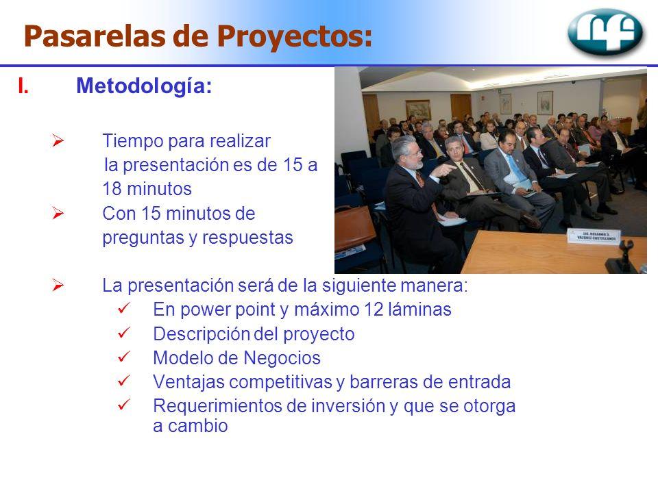 Pasarelas de Proyectos: