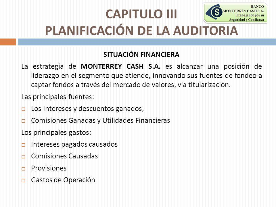 CAPITULO III PLANIFICACIÓN DE LA AUDITORIA