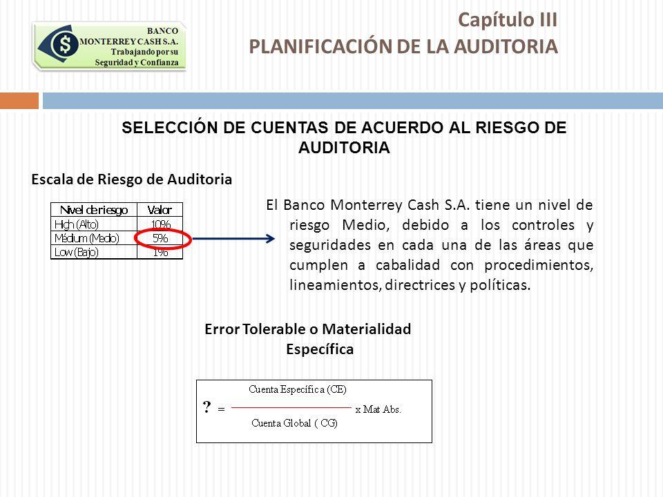 Capítulo III PLANIFICACIÓN DE LA AUDITORIA
