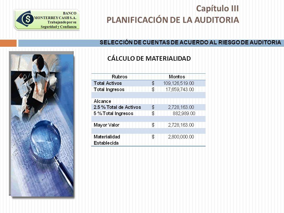 CÁLCULO DE MATERIALIDAD