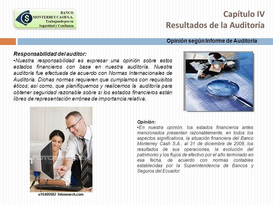 Capítulo IV Resultados de la Auditoría