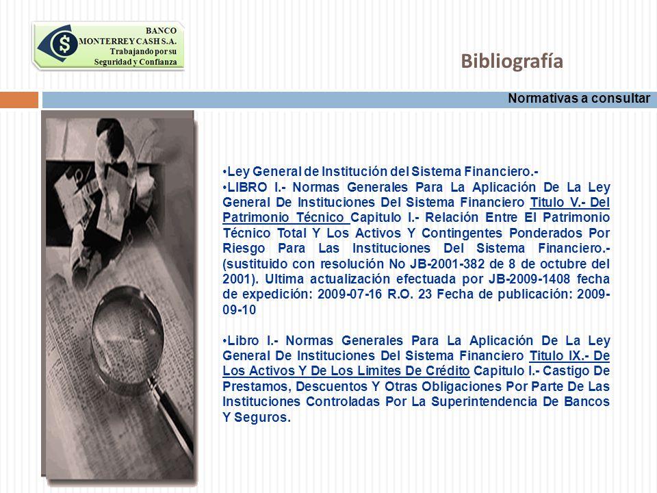 Bibliografía Normativas a consultar