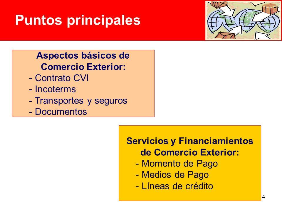 Puntos principales Aspectos básicos de Comercio Exterior: Contrato CVI