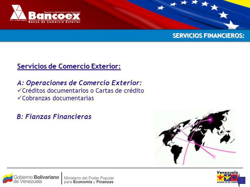 Servicios de Comercio Exterior: A: Operaciones de Comercio Exterior: