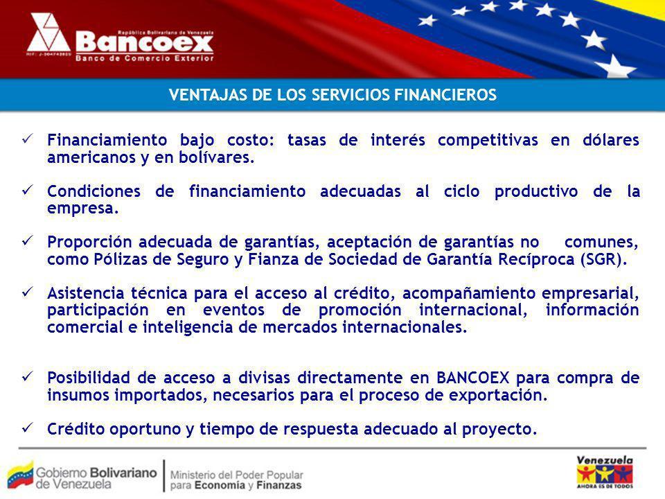 VENTAJAS DE LOS SERVICIOS FINANCIEROS