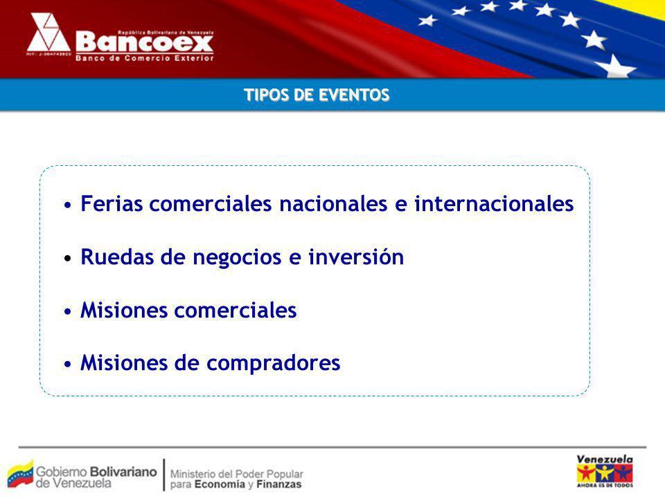 Ferias comerciales nacionales e internacionales