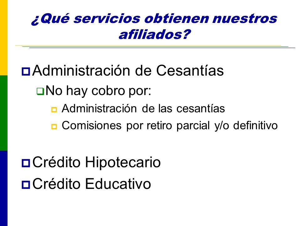 ¿Qué servicios obtienen nuestros afiliados