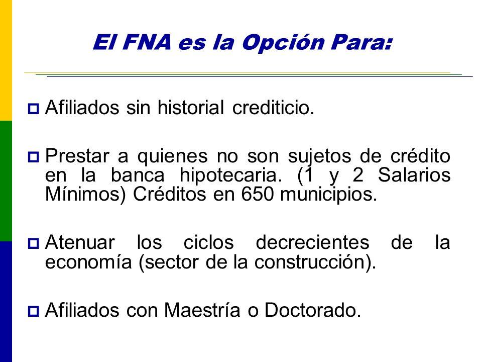 El FNA es la Opción Para: