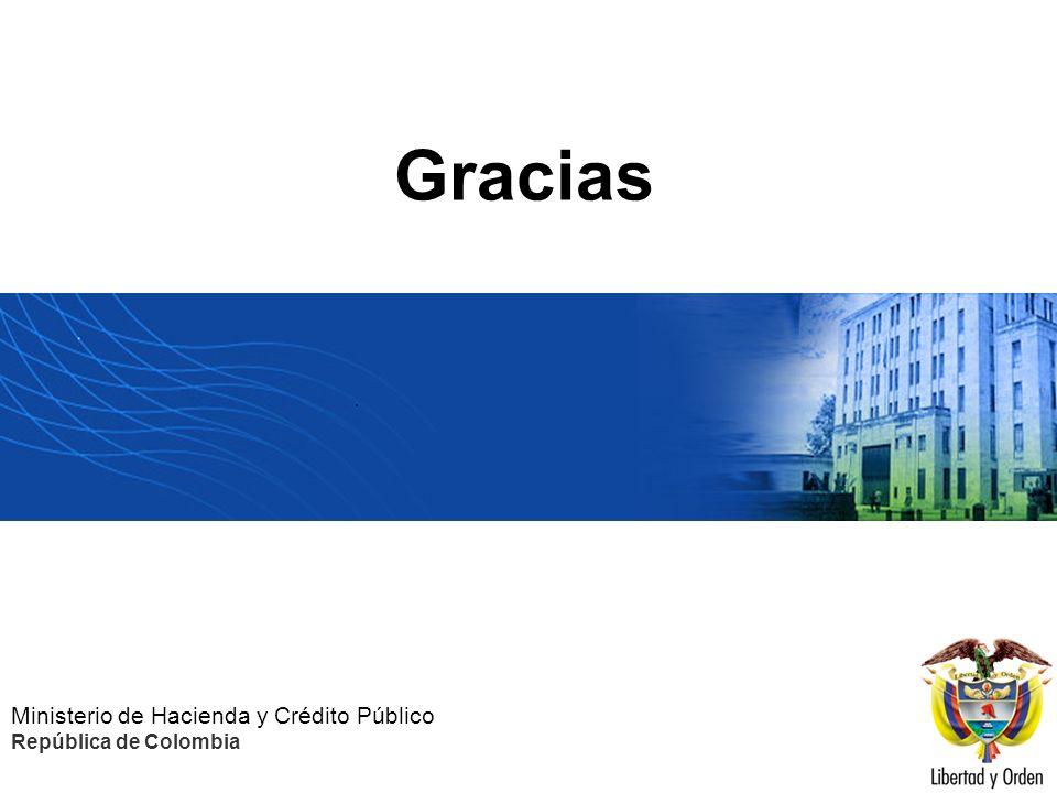 Gracias Ministerio de Hacienda y Crédito Público República de Colombia