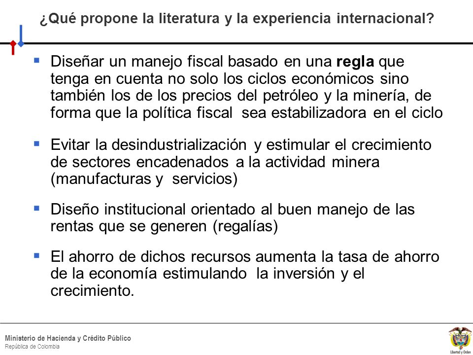 ¿Qué propone la literatura y la experiencia internacional