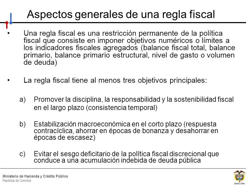 Aspectos generales de una regla fiscal