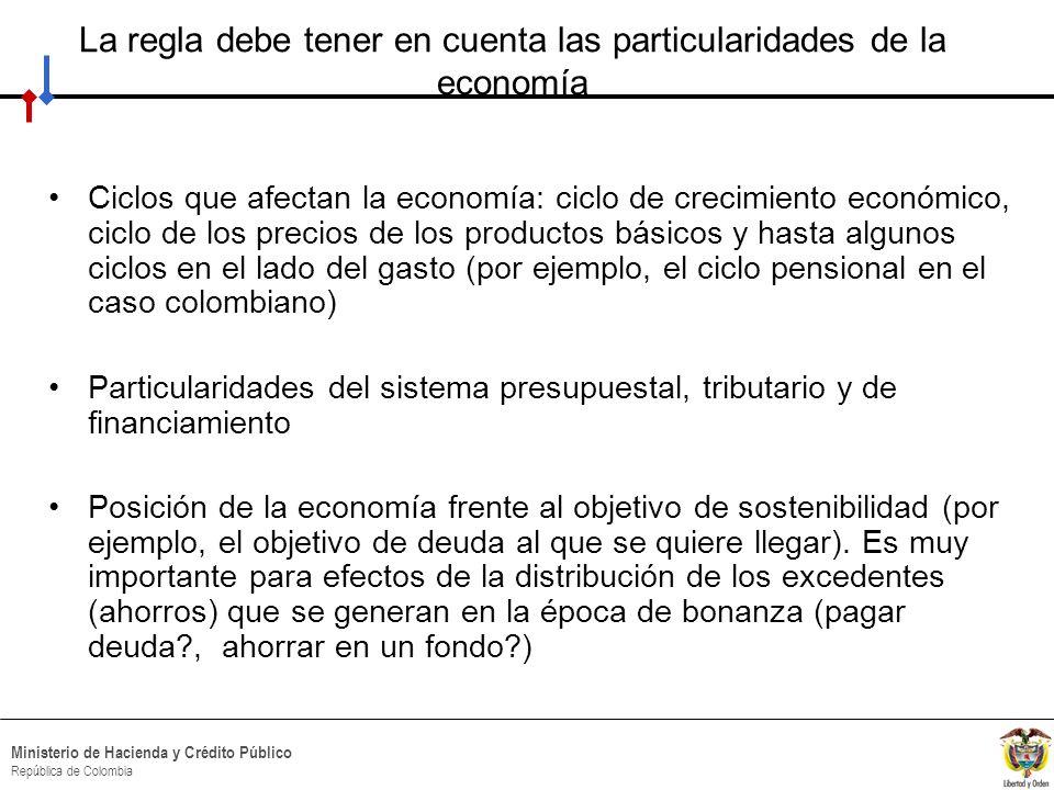 La regla debe tener en cuenta las particularidades de la economía