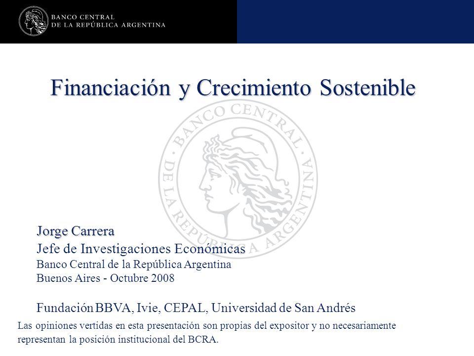 Financiación y Crecimiento Sostenible