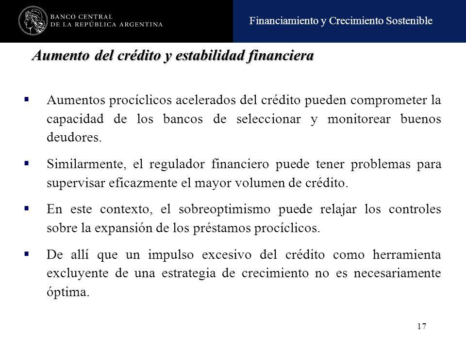 Aumento del crédito y estabilidad financiera