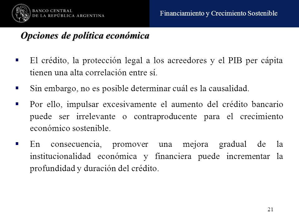 Opciones de política económica