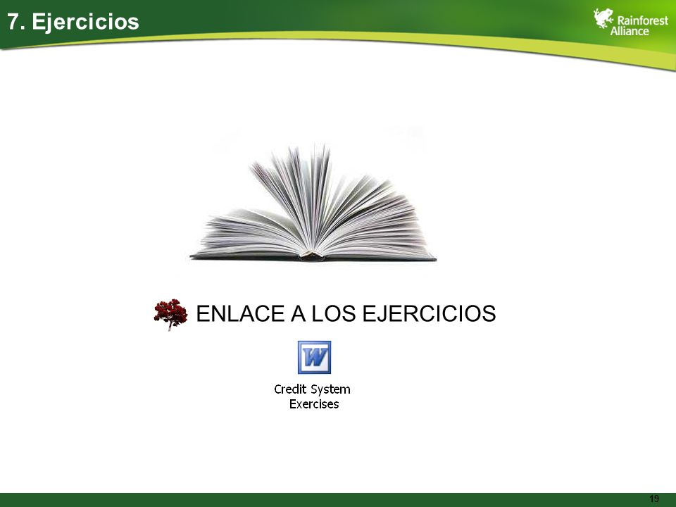 7. Ejercicios ENLACE A LOS EJERCICIOS