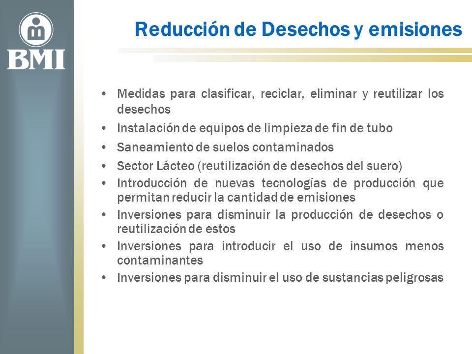 Reducción de Desechos y emisiones