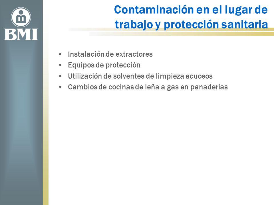 Contaminación en el lugar de trabajo y protección sanitaria