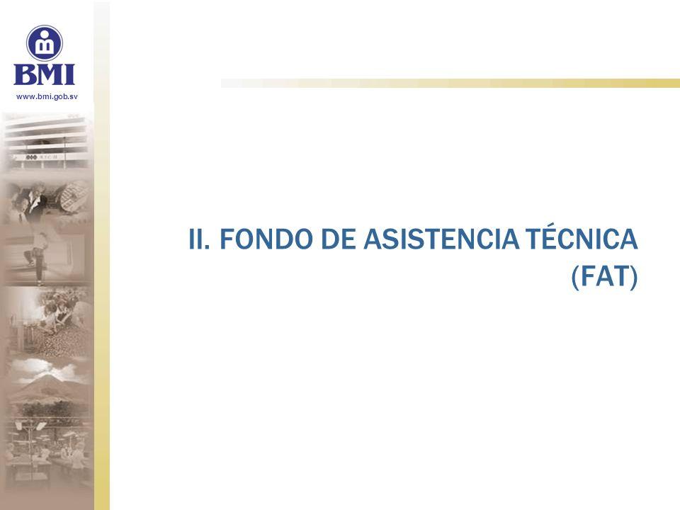 II. FONDO DE ASISTENCIA TÉCNICA (FAT)