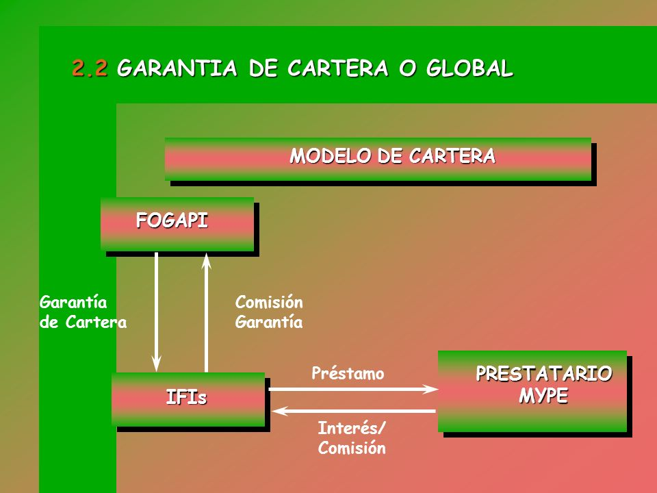 2.2 GARANTIA DE CARTERA O GLOBAL
