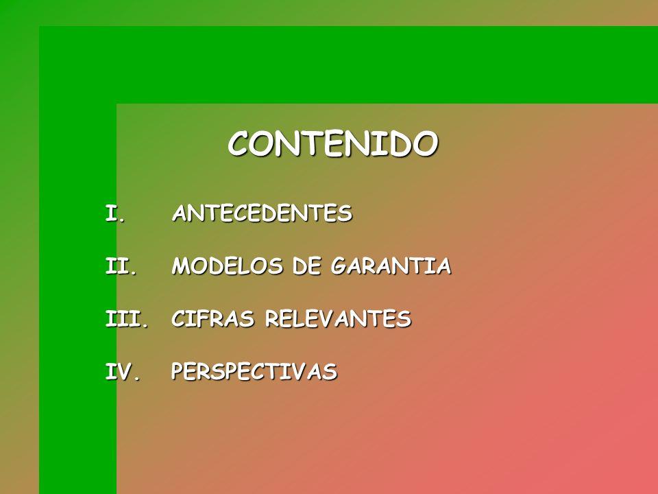 CONTENIDO I. ANTECEDENTES II. MODELOS DE GARANTIA