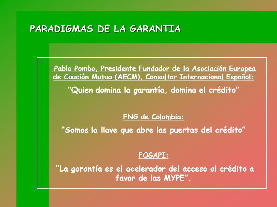 PARADIGMAS DE LA GARANTIA