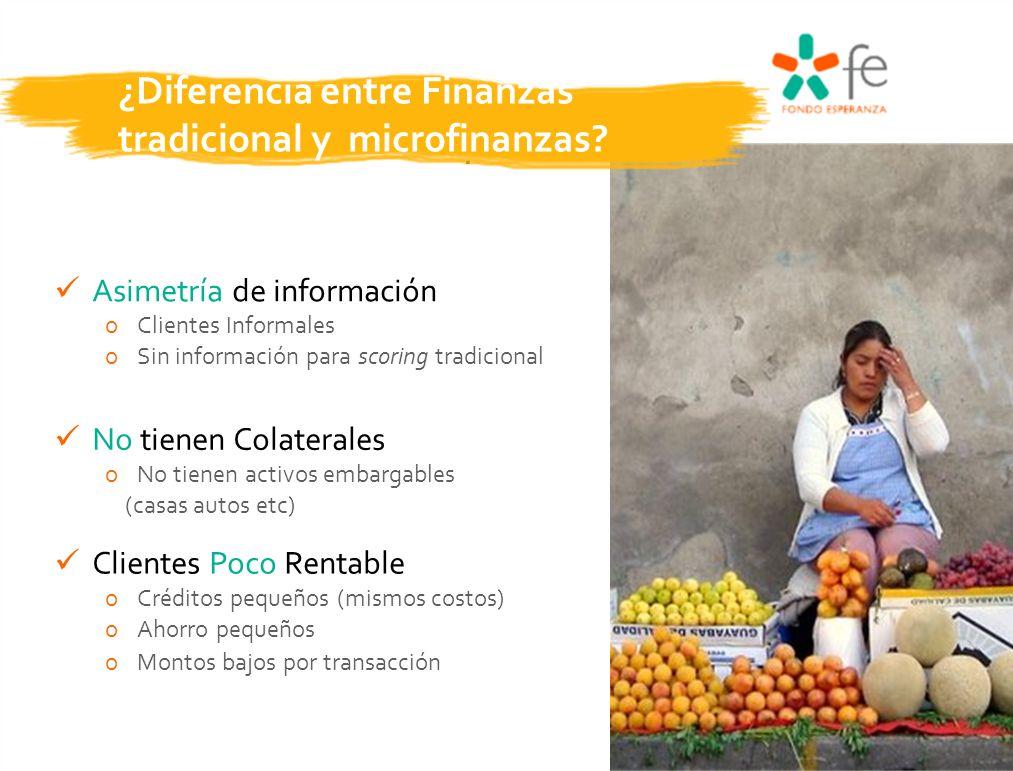 ¿Diferencia entre Finanzas tradicional y microfinanzas