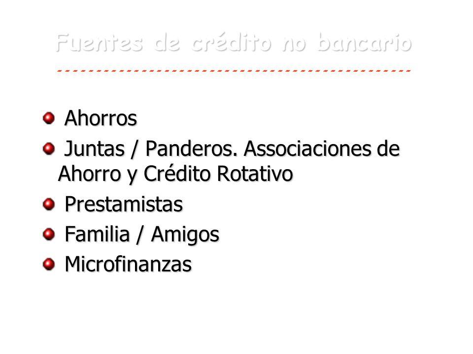 Fuentes de crédito no bancario