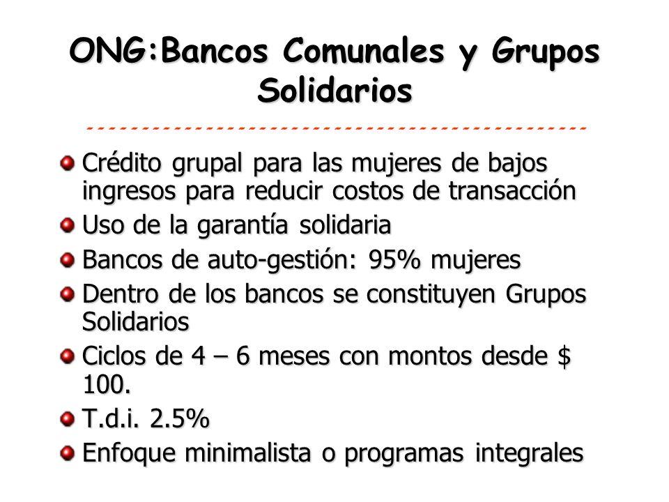 ONG:Bancos Comunales y Grupos Solidarios