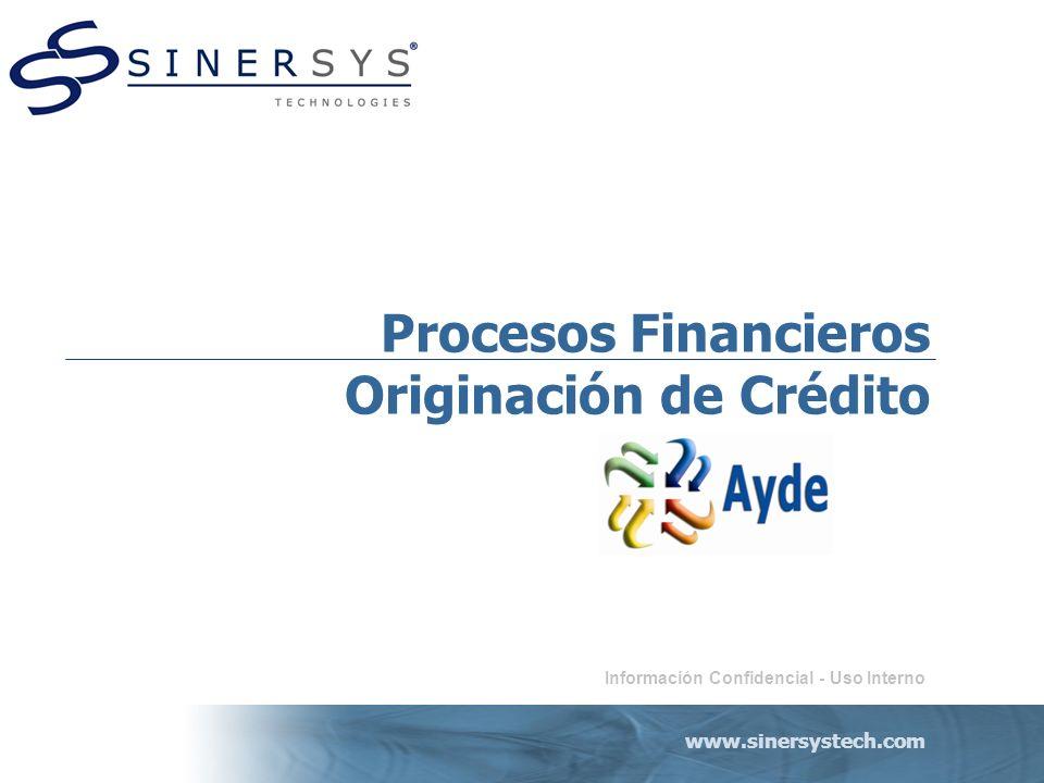 Procesos Financieros Originación de Crédito