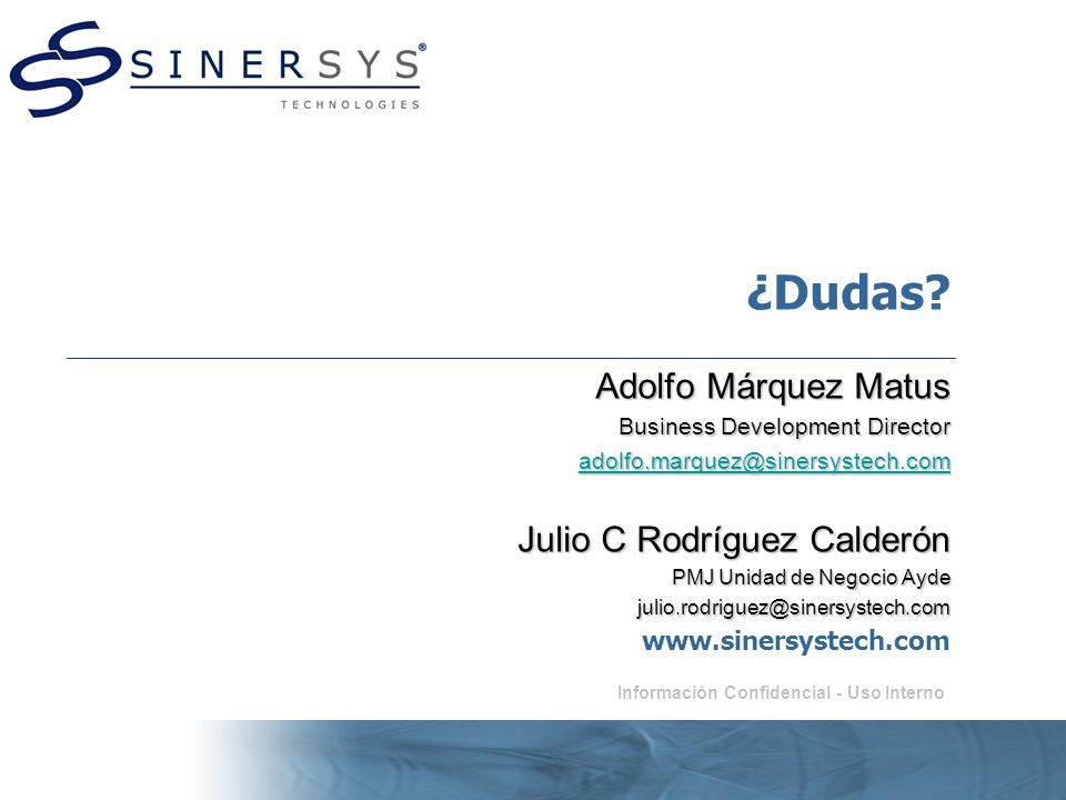 ¿Dudas Adolfo Márquez Matus Julio C Rodríguez Calderón