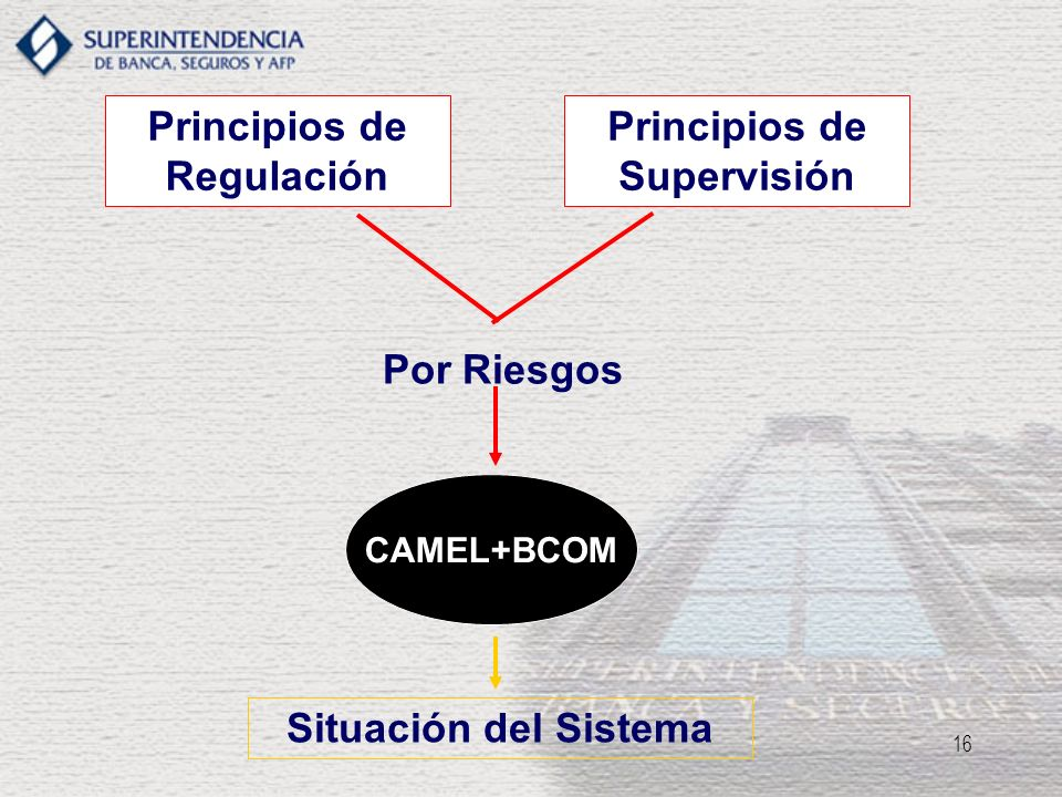 Principios de Regulación Principios de Supervisión