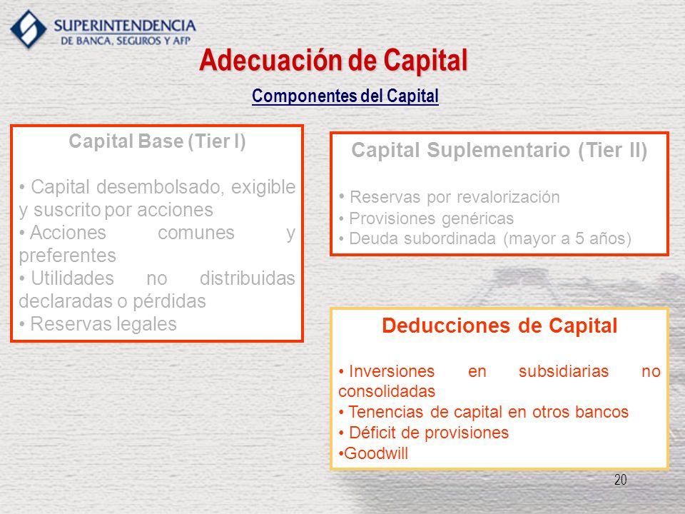 Componentes del Capital