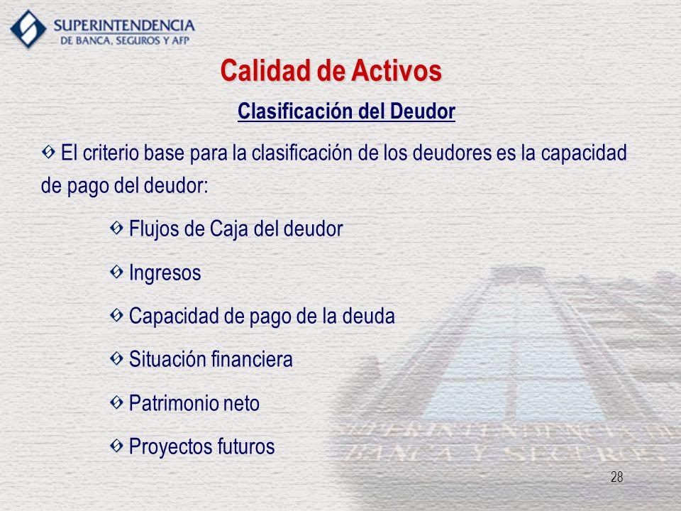 Clasificación del Deudor