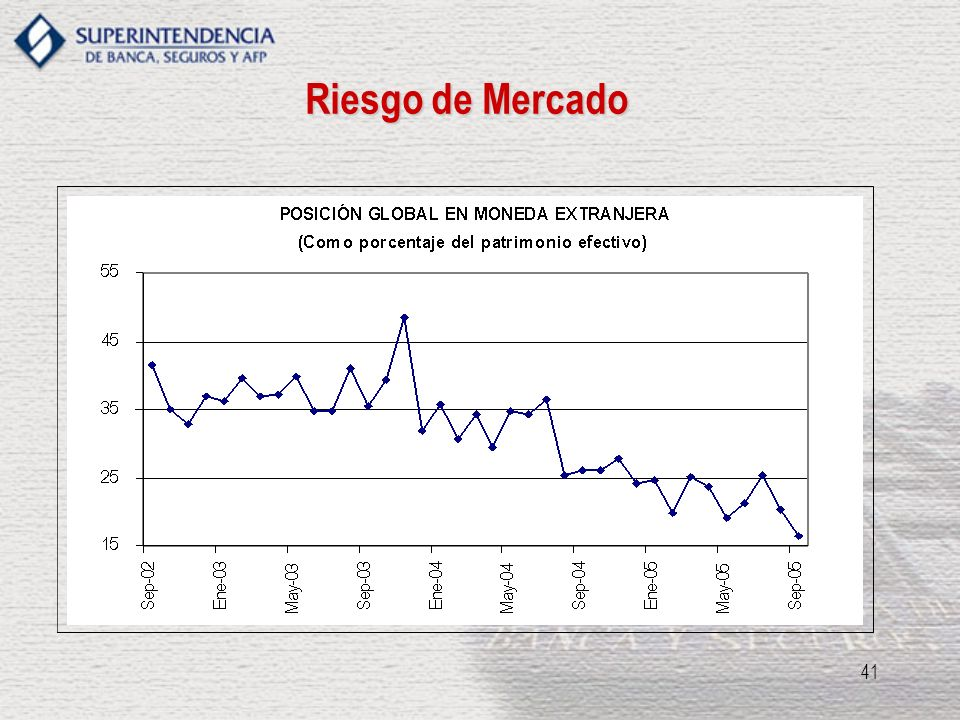 Riesgo de Mercado REGULACION