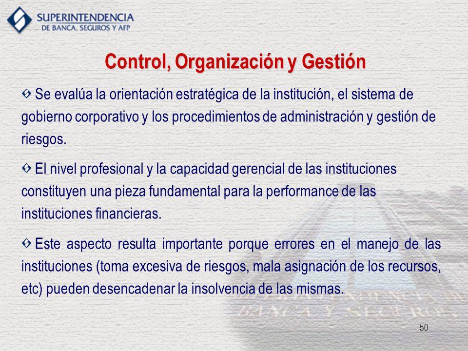 Control, Organización y Gestión