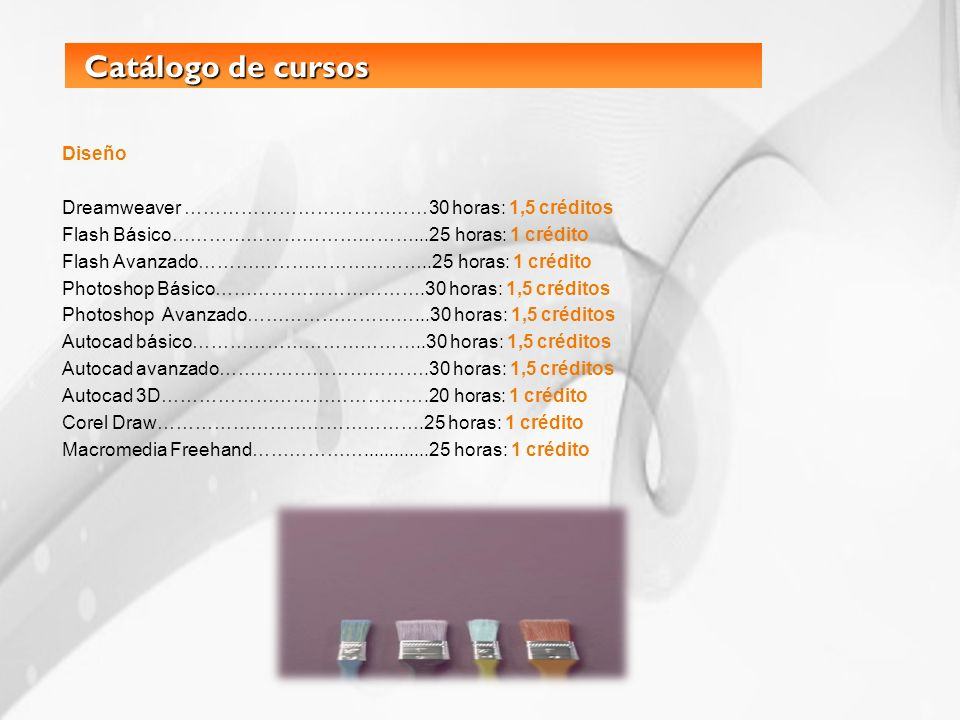 Catálogo de cursos Diseño