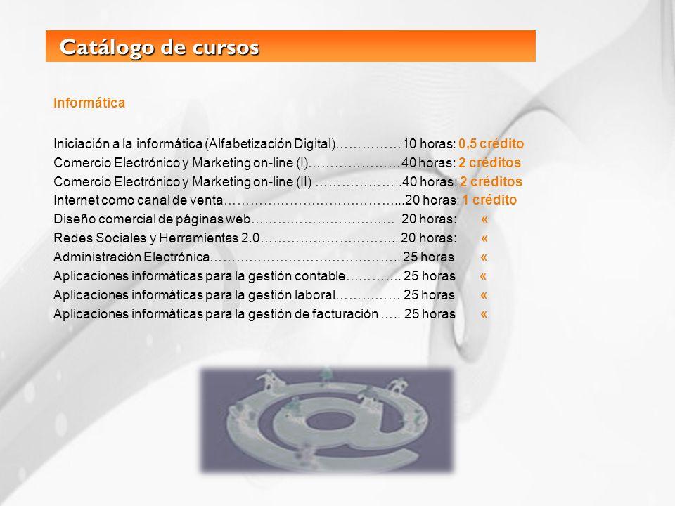 Catálogo de cursos Informática