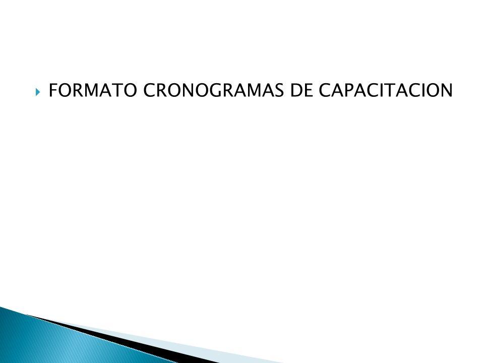 FORMATO CRONOGRAMAS DE CAPACITACION
